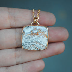 RESERVED: Crazy Lace Agate Necklace