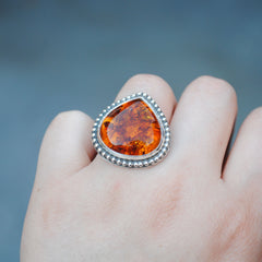 RESERVED: Amber Ring, Size 5