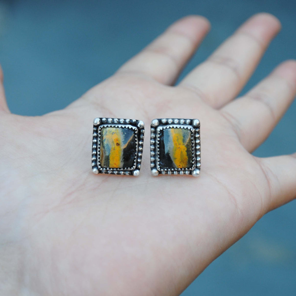 RESERVED: Bumble Bee Jasper Studs