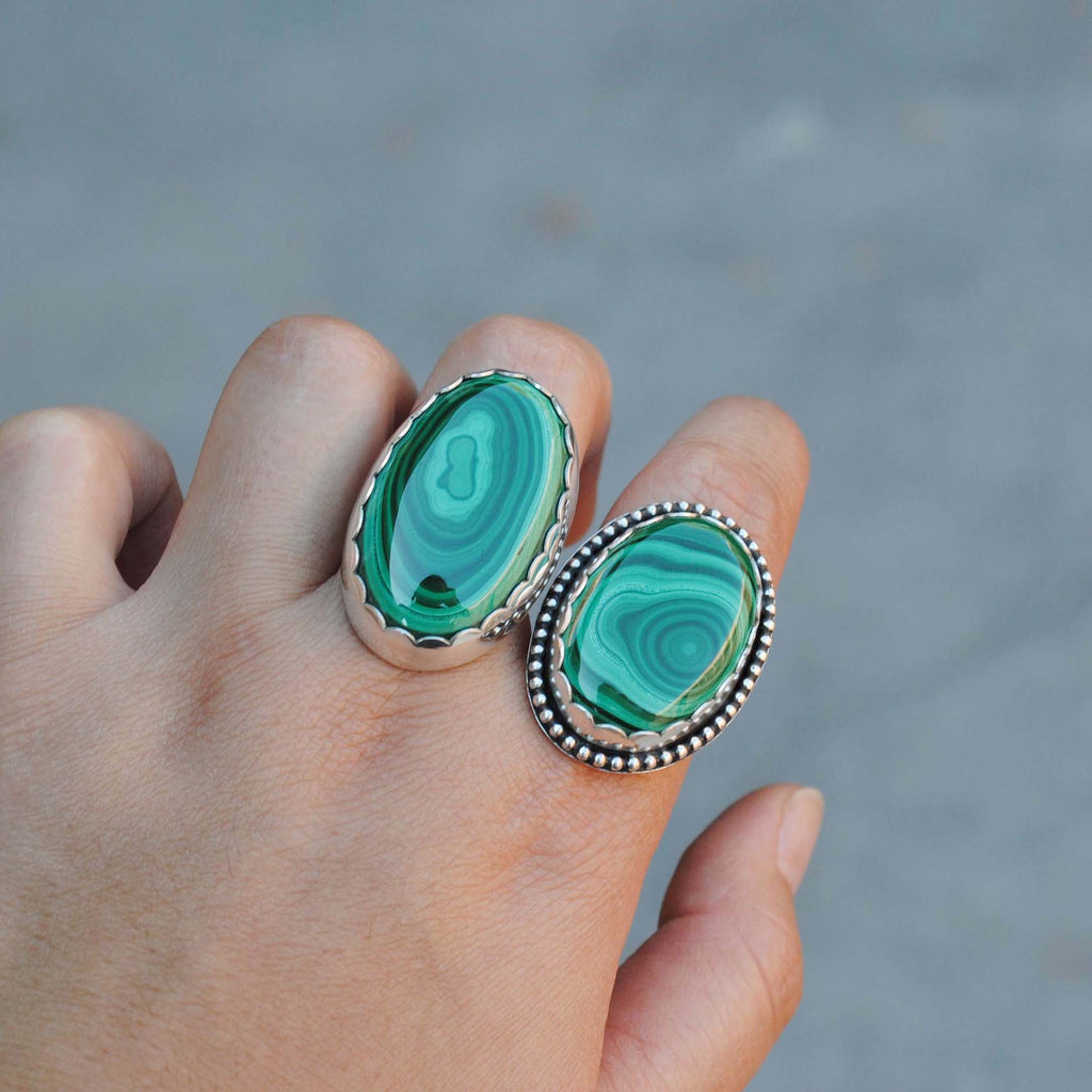 RESERVED for Beth (Malachite Rings)