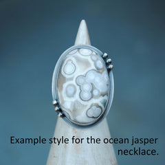 RESERVED: Ocean Jasper Necklace and Ring