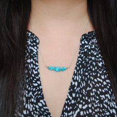 Turquoise Chip Bead Necklace