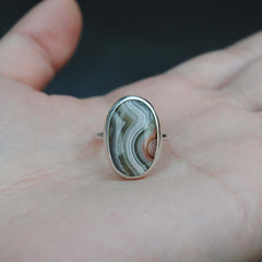 RESERVED: Crazy Lace Agate Ring Size 6.25