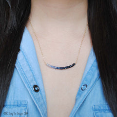 Sapphire Ombre Necklace