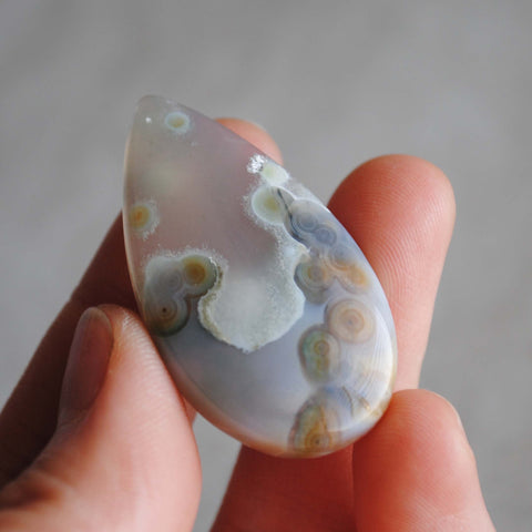 40 x 22mm drop Ocean Jasper cabochon