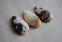 40 x 22mm drop Ocean Jasper cabochons