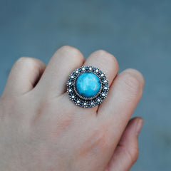 RESERVED: Kingman Turquoise Berry Ring