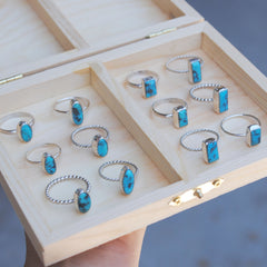 SALE: Turquoise Stacking Rings