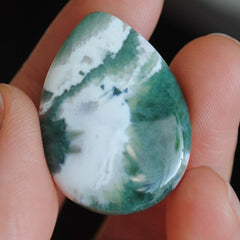 Ocean Jasper 30x22mm drop cabochon