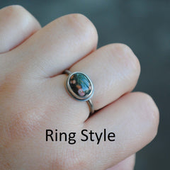 RESERVED: Ocean Jasper/Turquoise Necklace, Ocean Jasper Ring