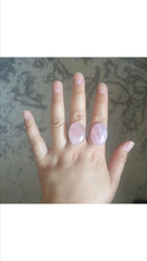 RESERVED: Rose Quartz Rings (Sizes 6 and 9)