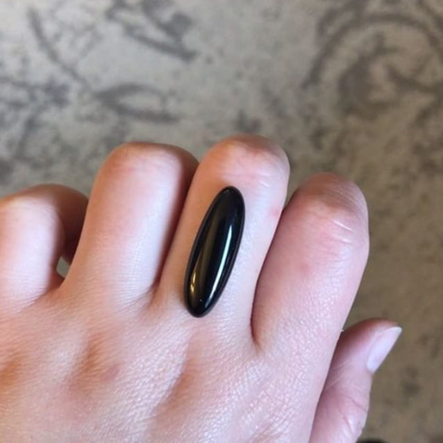 RESERVED: Black Onyx Oval Ring