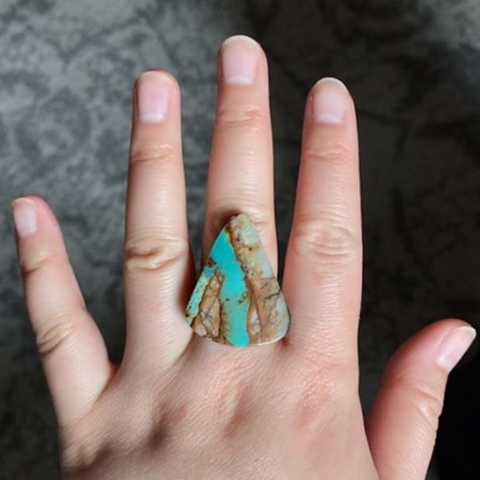 RESERVED: Royston Boulder Turquoise Ring