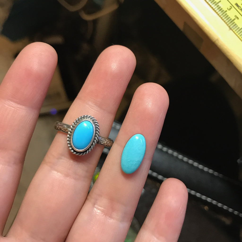 RESERVED: Sleeping Beauty Turquoise Ring