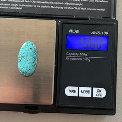 Number 8 turquoise cabochon