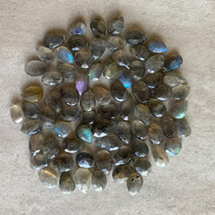 Labradorite faceted briolette beads