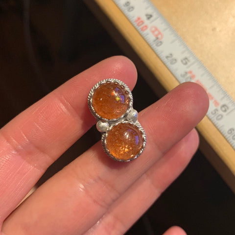 RESERVED for Jennifer (sunstone ring)
