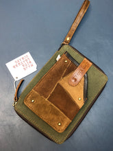 Load image into Gallery viewer, Leather and Canvas Phone Bag