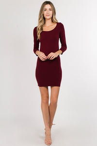 2389 Two in One Long Sleeve Dress one size