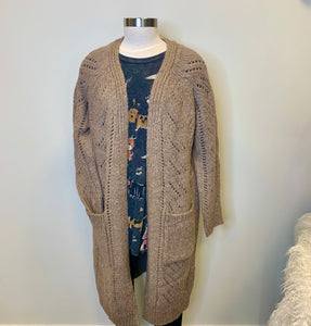 Multi Pattern Open Cardigan