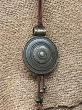Load image into Gallery viewer, Medallion on Leather Necklace