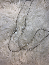 Load image into Gallery viewer, Silver Swarovski Chain w/Twin Silver Miel Pendant