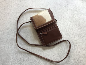 Leather and Cowhide Crossbody Wallet/Purse
