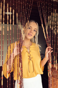 Yellow Blouse gypsy trader