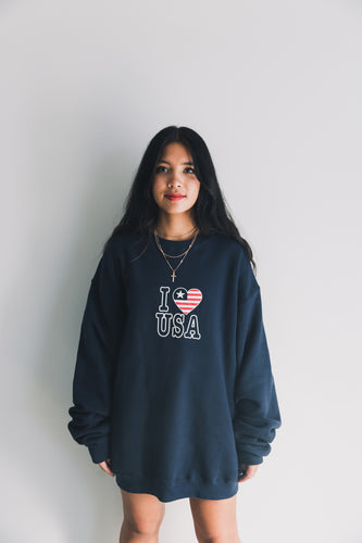 I LOVE USA VINTAGE JUMPER GYPSY TRADER