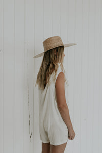 WHITE COTTON JUMPSUIT GYPSY TRADER