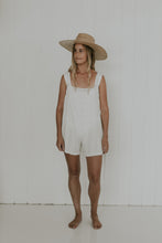 Load image into Gallery viewer, WHITE COTTON JUMPSUIT GYPSY TRADER
