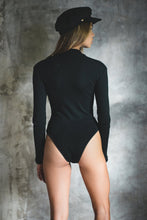 Load image into Gallery viewer, RIBBED COTTON BODYSUIT BLACK GYPSY TRADER