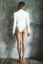 Load image into Gallery viewer, RIBBED COTTON BODYSUIT WHITE GYPSY TRADER