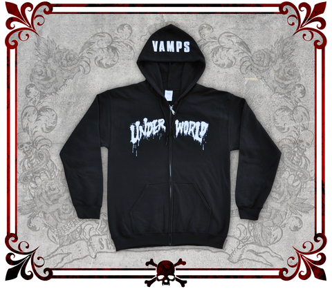 UNDERWORLD Unisex Full-Zip Hooded Sweatshirt/ユニセックスパーカー/Sudadera Unisex con Gorra y Cierre