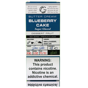 Glas Basix Blueberry Cake - The V Spot Vapor Vape Shop,