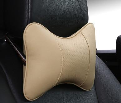 2019 brand new all artificial leather car neck pillows comfortable universal single pcs headrest fit for most cars fills fiber