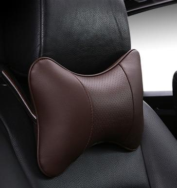 2019 brand new arrival car neck pillows both side pu leather single headrest fit for most cars filled fiber universal car pillow