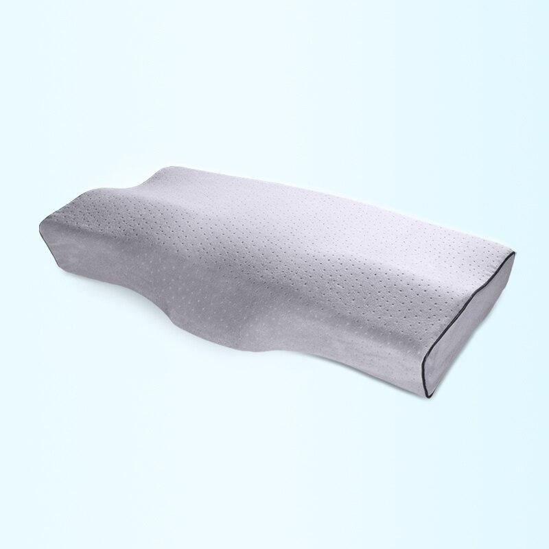 Memory Foam Bed Orthopedic Pillow Neck Protection Slow Rebound Memory Pillow Butterfly Shaped Health Cervical Neck Size 60/50 cm