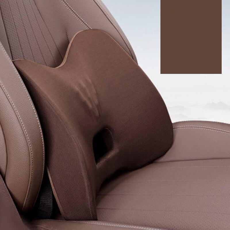 Memory Foam Car Pillow Headrest Hips Seat Cushion Protect Neck Cervical Vertebra Auto Back Support Cushion Car Seat Waist Sets