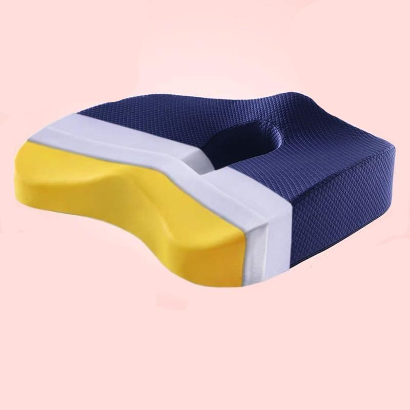 Memory Foam Seat Cushion Orthopedic Pillow Coccyx Office Chair Cushion Hip Car Seat Wheelchair Hips Massage Vertebrae Seat Pad