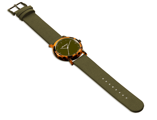 KHAKI FLECKED - ACETATE - 38 MM