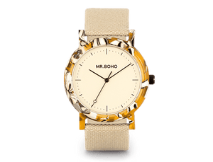 CREAM TOFFEE - ACETATE - 38 MM
