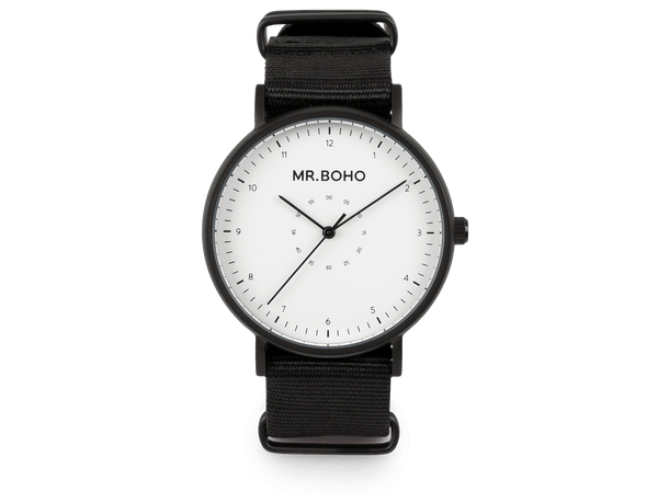 BLACK WHITE - CASUAL - 40 MM