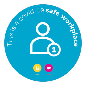 SAFE WORKPLACE STICKER | 1 PERSON MAX
