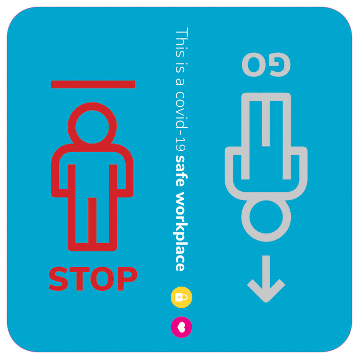 SAFE WORKPLACE STICKER | STOP & GO