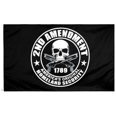 2nd Amendment Skull Flag
