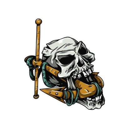 Anchor Skull Sticker