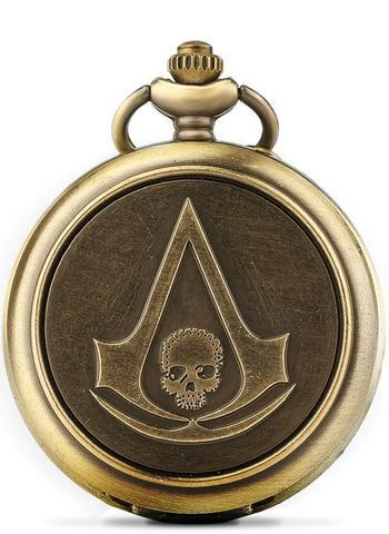 Assassins Creed Skull Pocket Watch