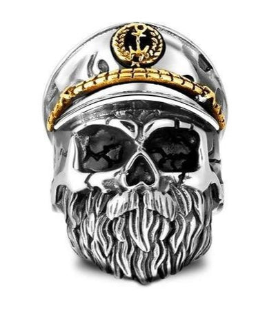 Bearded Skull Ring