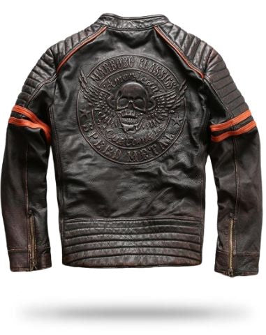 Biker Skull Leather Jacket